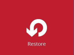 Restore files from a backup set in just a few clicks.